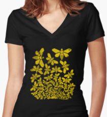 Breaking Escher Women's Fitted V-Neck T-Shirt
