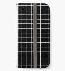 Black Tumblr Grid Pattern iPhone Wallet/Case/Skin