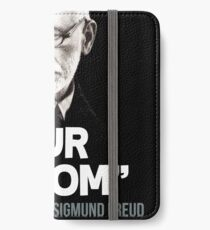 """Your Mom"" - Sigmund Freud Quote iPhone Wallet/Case/Skin"