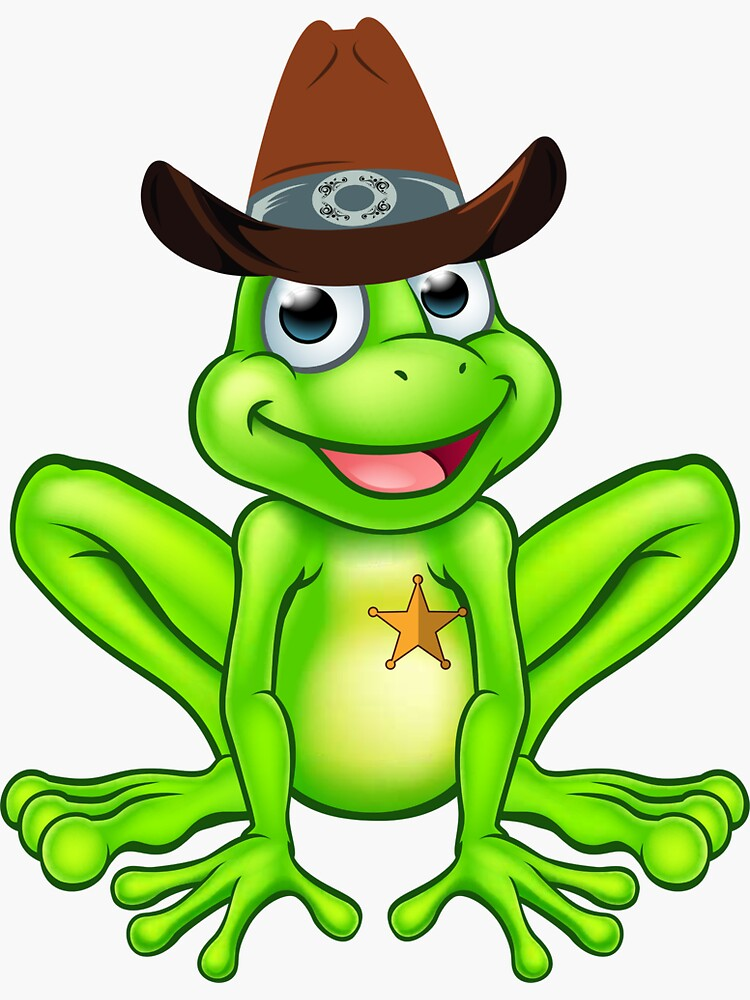 Frog Sheriff Cowboy  Wears Hat Funny by ds-4