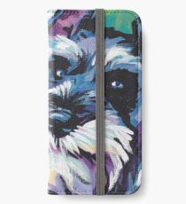 Schnauzer Bright colorful pop dog art iPhone Wallet/Case/Skin
