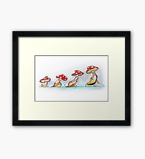 Mushrooms Framed Print