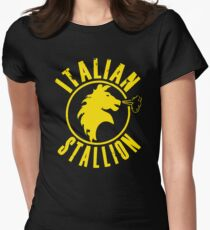 Italian Stallion Rocky Balboa Womens Fitted T-Shirt