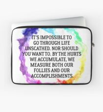 Follies And Accomplishments Laptop Sleeve