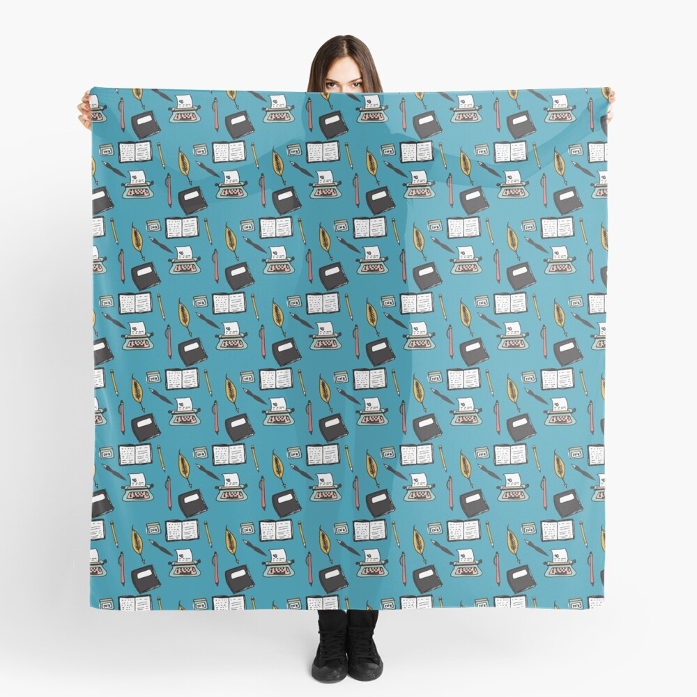 Lets Type Blue Scarf
