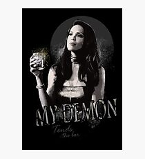 My Demon Tends The Bar Photographic Print