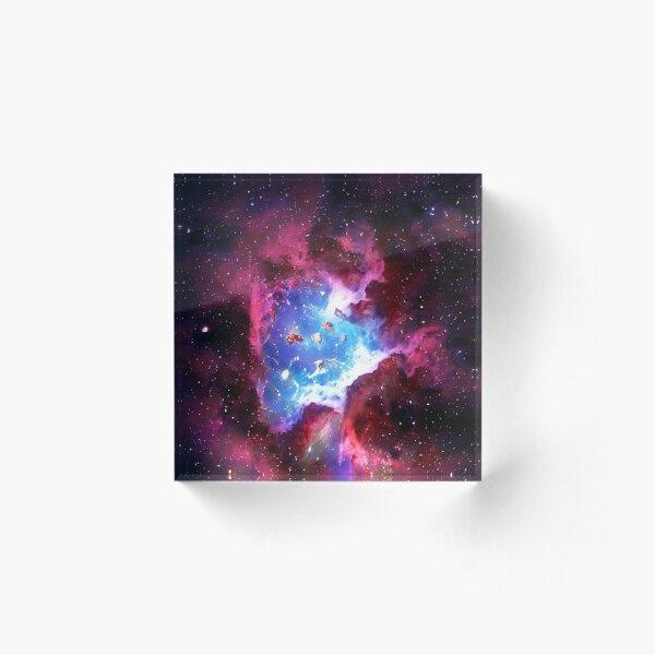 Purple Galaxy Acrylic Block