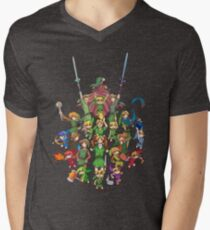 The Legend of Zelda 30th anniversary Men's V-Neck T-Shirt