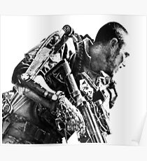Armed soldier Poster