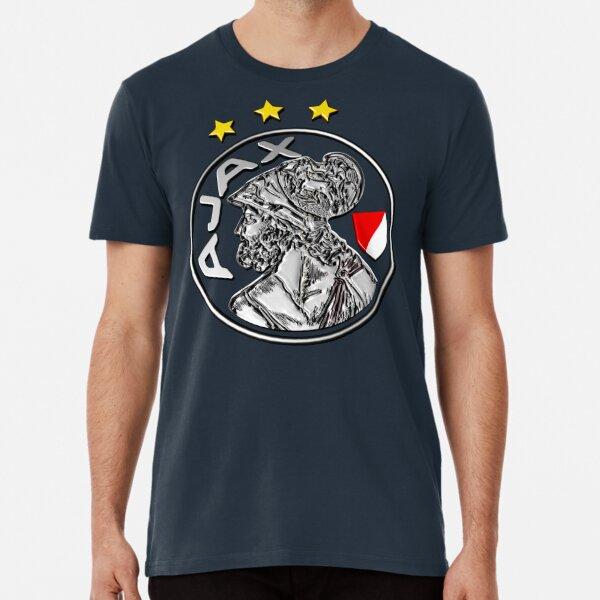 Mens Ajax Amsterdam Logo Amsterdamsche Football Club Black T Shirt