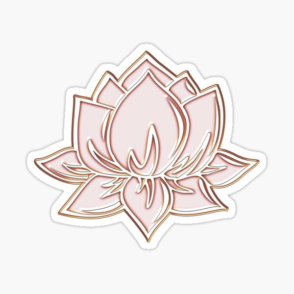 Fleur de Lotus, Symbole Sagesse et Lumières, Bouddhisme, Zen Sticker