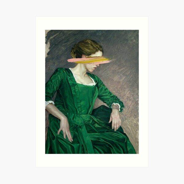 les yeux fille verte Impression artistique