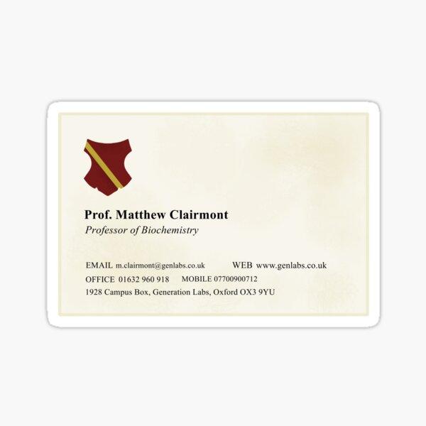 Matthew Clairmont Business Card Sticker