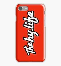 iPHONE The HyLife Lifestyle - Red with Black Edge iPhone Case/Skin