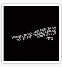 Tomorrow Lyrics by BTS Sticker