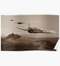 Pacific Warhorse - RNZAF Version - Sepia Poster