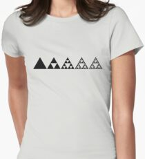 Sierpinski, Triangle, Mathematics, Fractal, Math, Geometry Women's Fitted T-Shirt