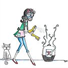 The dreaded cleaning of the litter box by Josie Rouse