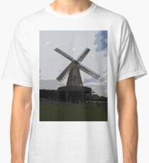 Woodchurch windmill in cartoon graphic  Classic T-Shirt