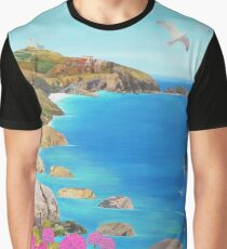 Path to The Lizard Lighthouse Graphic T-Shirt