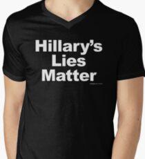 Hillary's Lies Matter Men's V-Neck T-Shirt