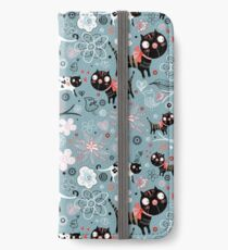 Funny cats in love  iPhone Wallet/Case/Skin