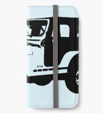 Jugendlicher Wolf - Stiles Jeep iPhone Flip-Case/Hülle/Klebefolie