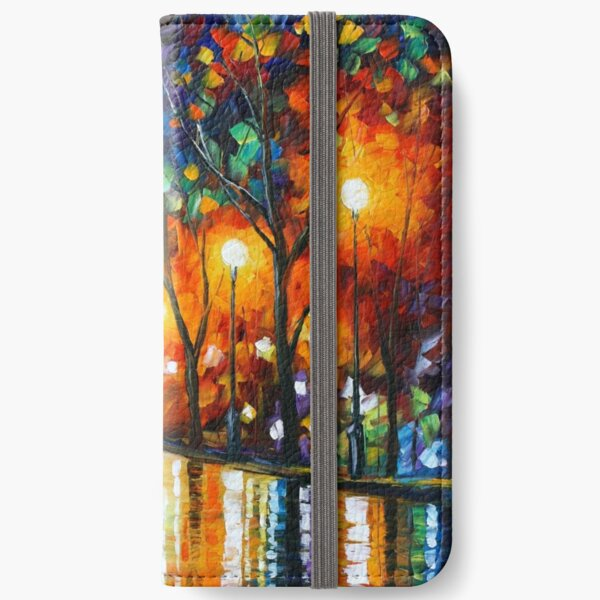 THE LONELINESS OF AUTUMN - Leonid Afremov iPhone Wallet