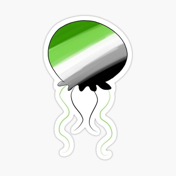 Aromantic Jellyfish Sticker