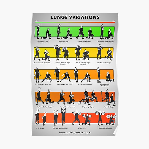 Lunge variations by JLFITNESSMIAMI Poster