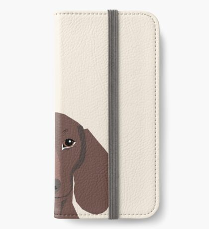 Piper - Dachshund, weener dog, wiener dog, pet portrait, sausage dog, pet iPhone Wallet
