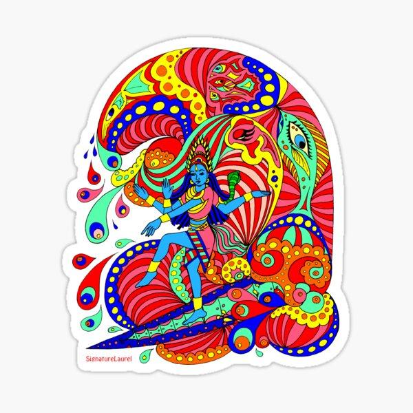 Shiva Surfing Sticker