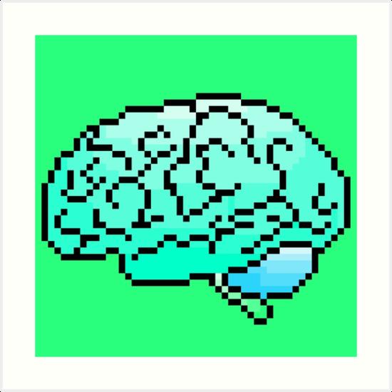 Good Pixel Art Brain 8 Bit By Golfcart