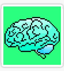 Pixel Art Brain 8-Bit Sticker