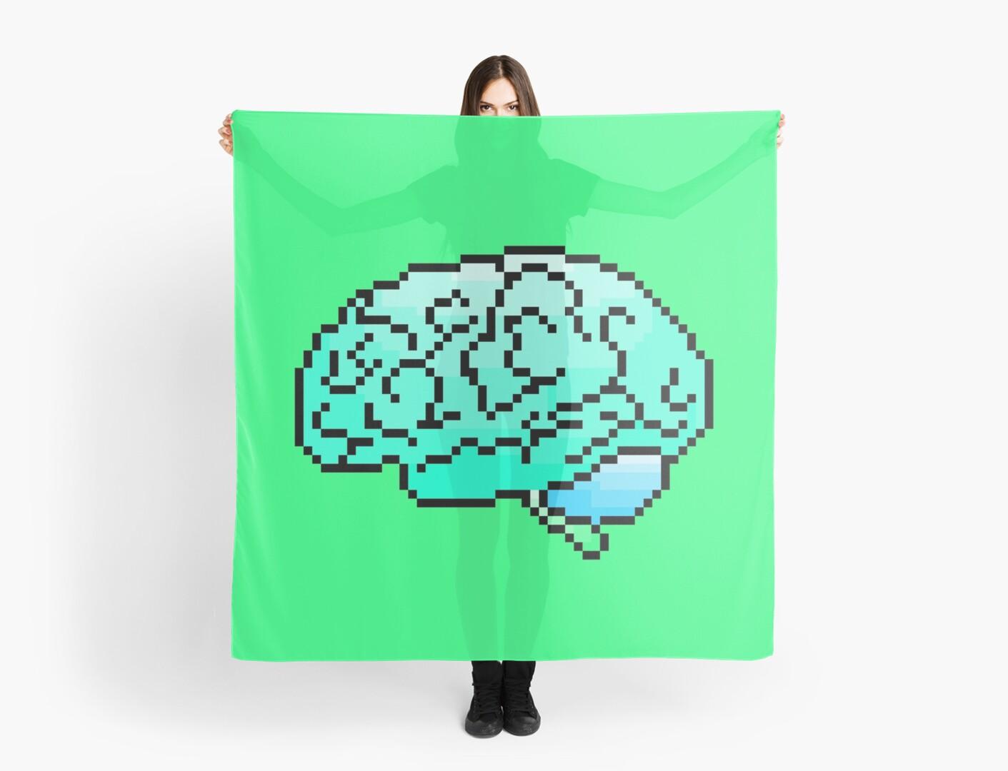 Pixel Art Brain 8 Bit By Golfcart