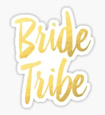Bride Tribe Gold Foil Wedding Bachelorette Party Hens Night Favors Gifts Sticker