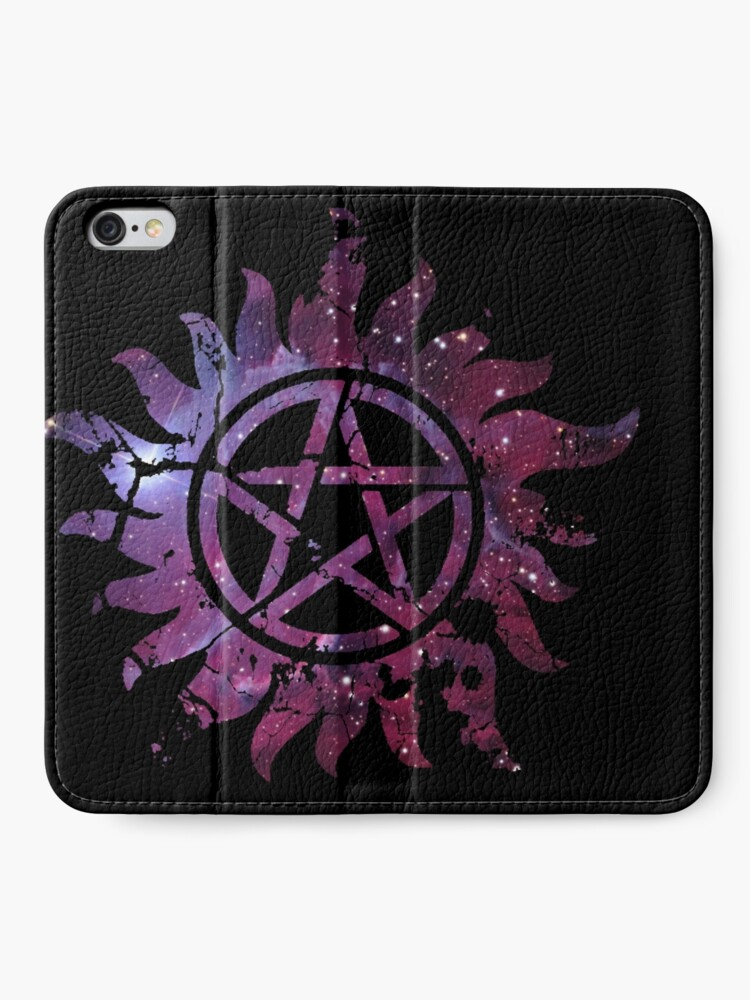 Alternate view of Supernatural Anti-Possession Galaxy Print iPhone Wallet