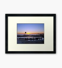 Goodbye Sun Framed Print