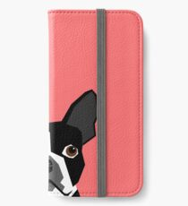 Kennedy - Boston Terrier customizable dog gifts for pet owners and Boston Terrier gifts for dog lovers iPhone Wallet/Case/Skin