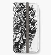Verzierter Löwe iPhone Flip-Case/Hülle/Skin