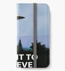 i want to believe iPhone Wallet/Case/Skin