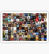Classic rock covers - collage Sticker