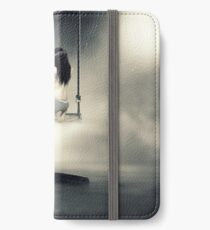 sureal/conceptual scenery of young girl on swing  iPhone Wallet/Case/Skin