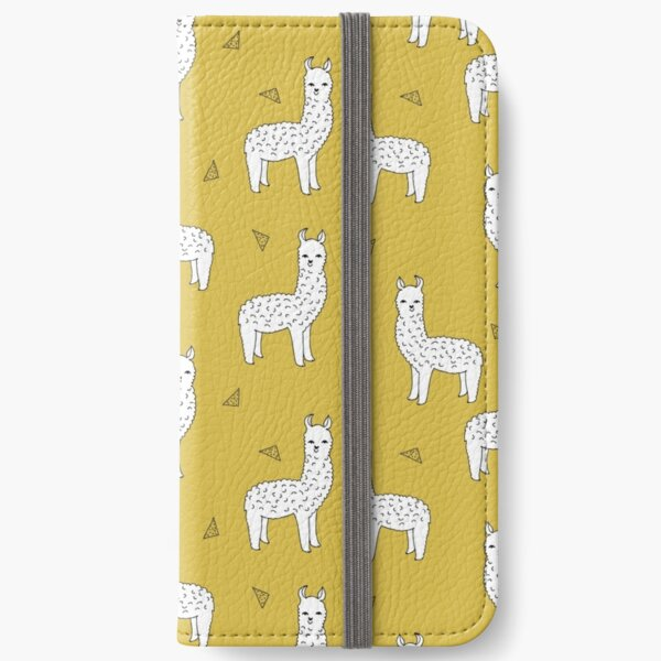 Alpaca - Mustard by Andrea Lauren iPhone Wallet