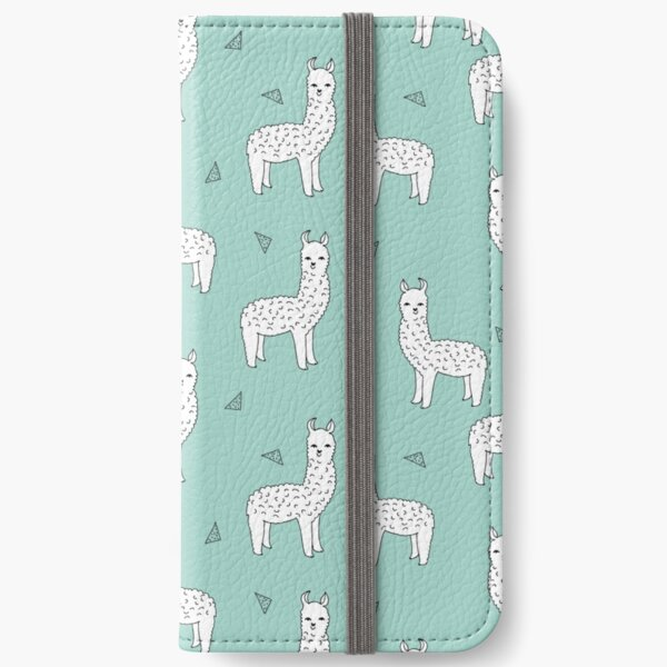 Alpaca - Mint by Andrea Lauren iPhone Wallet