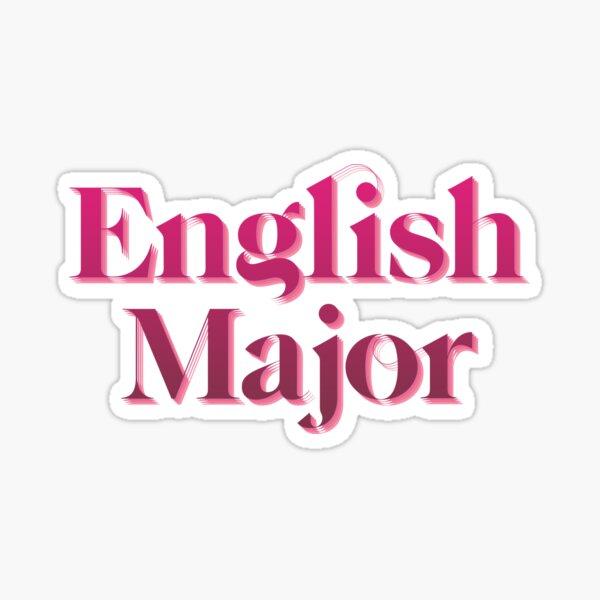 English Major (Red/Pink) Sticker