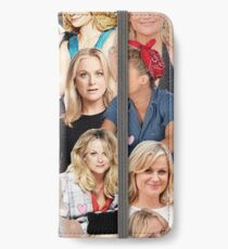 Amy Poehler Collage iPhone Flip-Case/Hülle/Klebefolie