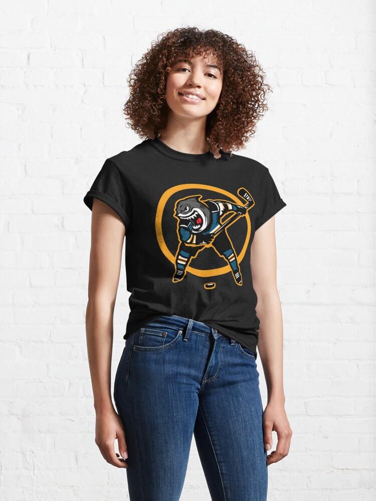 Alternate view of Shark Design San Jose Hockey Classic T-Shirt