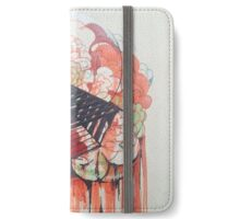 Circles and Puff drips with Geometry iPhone Wallet/Case/Skin