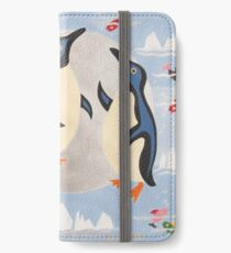 Penguins Playing with the Moon iPhone Wallet/Case/Skin